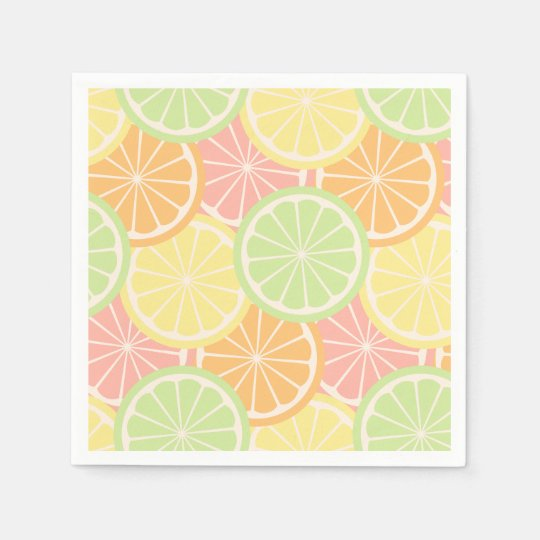 Cool Fruity Summer Birthday Party Supplies Disposable Napkins