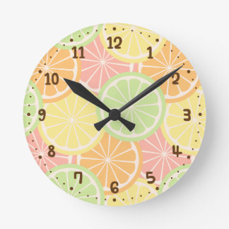 Cool Fruity Summer Teens Room Decor Round Clock