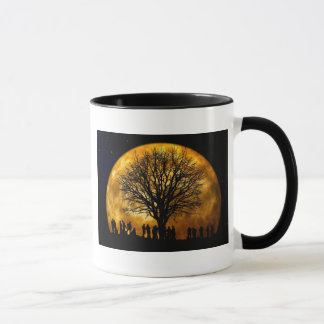 Cool Full Harvest Moon Tree Silhouette Gifts