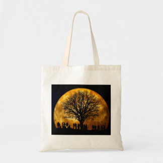 Cool Full Harvest Moon Tree Silhouette Gifts Bags