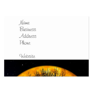 Cool Full Harvest Moon Tree Silhouette Gifts Business Cards