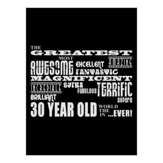 Cool Fun 30th Birthday Party Greatest 30 Year Old Posters