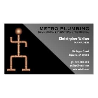 Cool Fun Black Gray Plumber Plumbing Business Card Pack Of Standard Business Cards