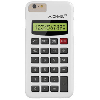 Cool Fun Calculator Pattern with Custom Text Barely There iPhone 6 Plus Case