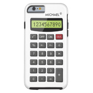 Cool Fun Calculator Pattern with Custom Text Tough iPhone 6 Case