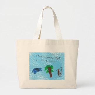 Cool, fun, durable Chocolate Bar tote bag