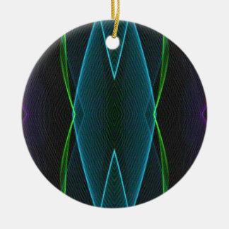 Cool Fun Linear Abstract For Him Round Ceramic Decoration