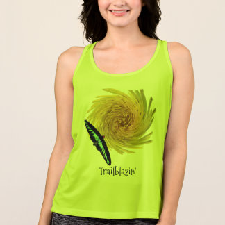 Cool Fun Trailblazing Butterfly Floral Custom Tank Top