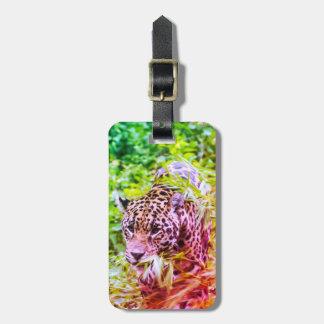 Cool Funky Cheetah Animal Luggage Tag