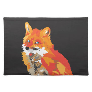 Cool Funky Fox Placemat