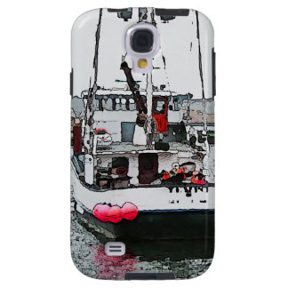 Cool funky image of coastal fishing boat galaxy s4 case