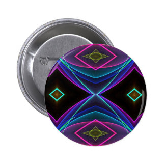 Cool Funky Neon Fluorescent Colored Pattern 6 Cm Round Badge
