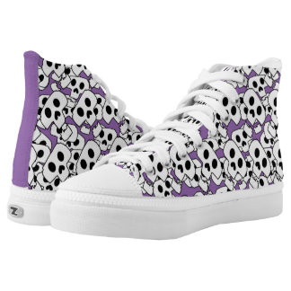 Cool Funky Skull Graphic High Tops