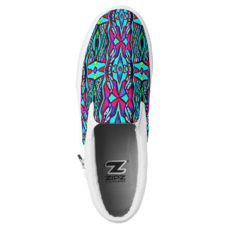 Cool Funky Vibrant Neon Pastel Gypsy Pattern Printed Shoes