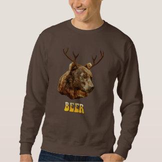 Cool Funny Beer Deer Bear With Glass Beer Letters Sweatshirt