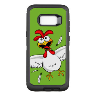 Cool Funny Cute Humorous Cartoon Chicken For Kids OtterBox Defender Samsung Galaxy S8+ Case