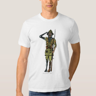 Cool funny cyborg soldier t-shirt design