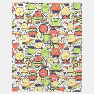 Cool Funny Monsters Fleece Blanket