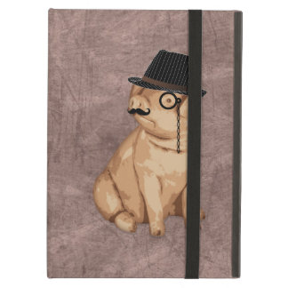 Cool funny piglet investigator cartoon cover for iPad air