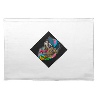 cool gangster rapping cat. place mats