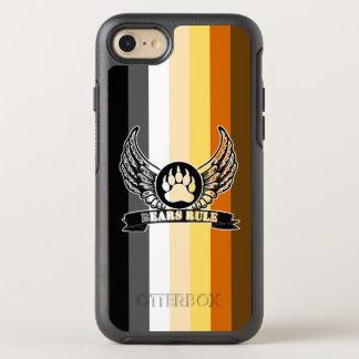 Cool Gay Bears Pride Flag Bears Rule Bear Paw OtterBox Symmetry iPhone 8/7 Case