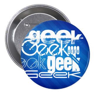 Cool Geek; Royal Blue Stripes Buttons