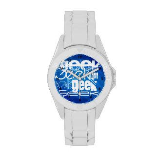 Cool Geek; Royal Blue Stripes Wrist Watches