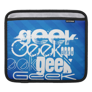 Cool Geek; Royal Blue Stripes Sleeve For iPads