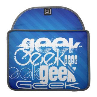 Cool Geek; Royal Blue Stripes MacBook Pro Sleeves