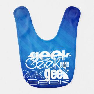 Cool Geek; Royal Blue Stripes Baby Bibs