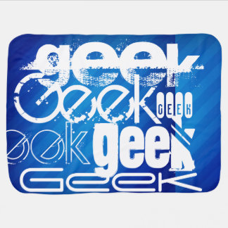 Cool Geek; Royal Blue Stripes Stroller Blankets