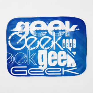 Cool Geek; Royal Blue Stripes Burp Cloth