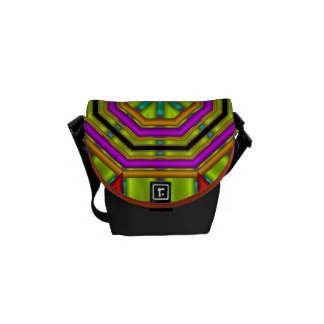 Cool geometric shapes / patterns & Monogram Commuter Bag