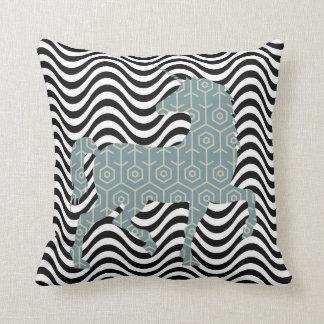 Cool Geometric unicorn Cushion