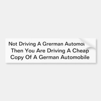 Cool German Sticker Bumper Sticker