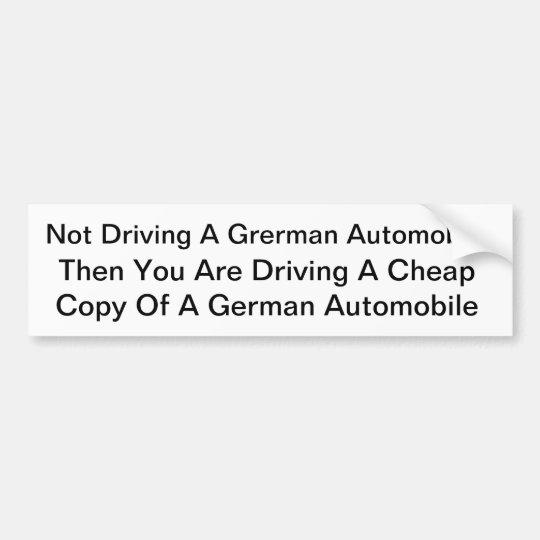 Cool German Sticker Bumper Sticker