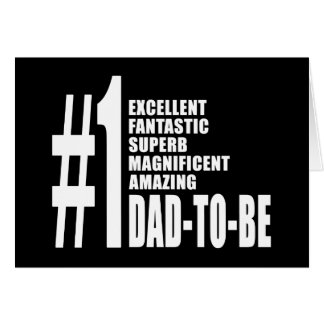 Cool Gifts for Future Dads : Number One Dad to Be Note Card