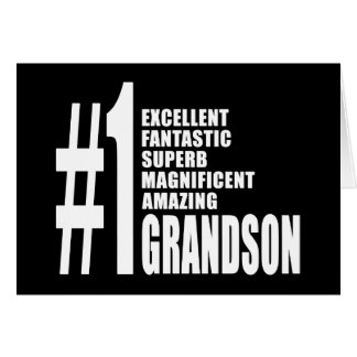 Cool Gifts for Grandsons : Number One Grandson Card