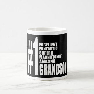 Cool Gifts for Grandsons : Number One Grandson Coffee Mugs