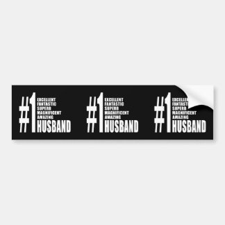 Cool Gifts for Husbands : Number One Husband Car Bumper Sticker
