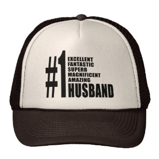Cool gifts for Husbands Number One Husband Hat
