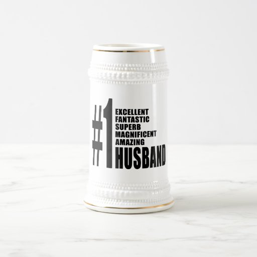 Cool gifts for Husbands : Number One Husband Coffee Mugs