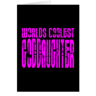 Cool Gifts : Pink Worlds Coolest Goddaughter Card