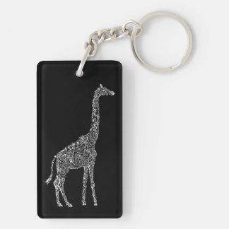 Cool Giraffe Keychain