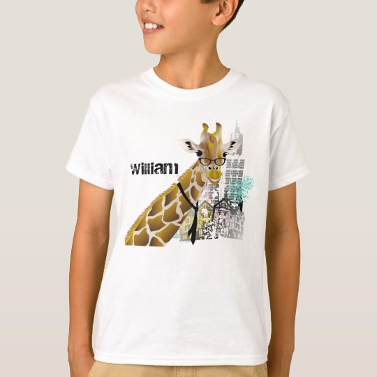 Cool Giraffe Kids T Shirts