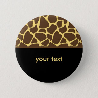 Cool Giraffe Pattern 6 Cm Round Badge