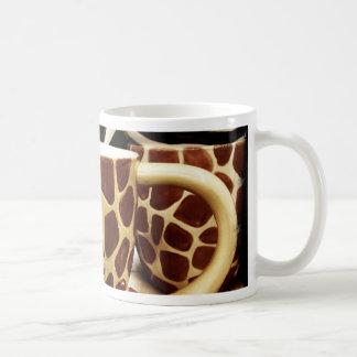 Cool Giraffe Pattern and Zebra Stripes Coffee Mugs