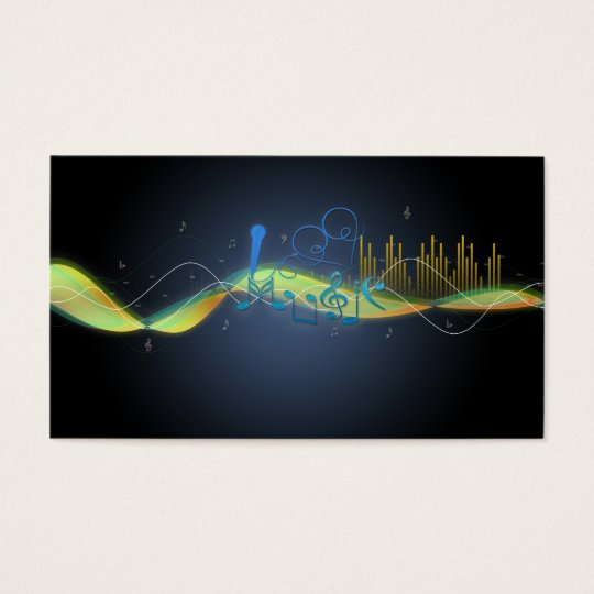 Cool glowing effects music notes heart swirls business