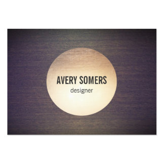 Cool  Gold Circle Emblem Wood Designer Pack Of Chubby Business Cards