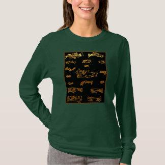 Cool Gold Mayan Animal Design T-Shirt